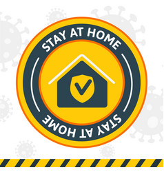 Symbol stay at home second wave a sign vector