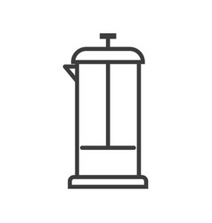 teapot for tea coffee simple food icon in trendy vector image