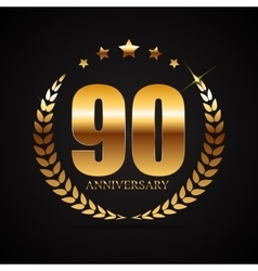 Template Logo 90 Years Anniversary vector