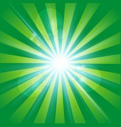 The sun radiation retro green background vintage vector