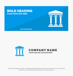 user bank cash solid icon website banner and vector image