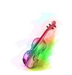 Violin in iridescen colours vector image