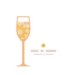 Warm stars wine glass silhouette pattern frame vector