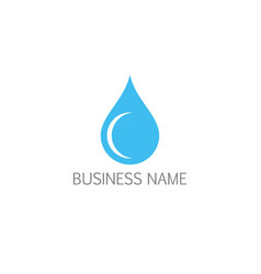 waterdrop bio logo vector image