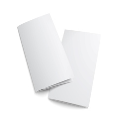 Couple of blank trifold paper brochure vector image