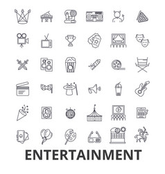 entertainment musician movie party media vector image