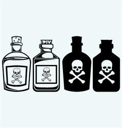 Glass bottles of poison vector image