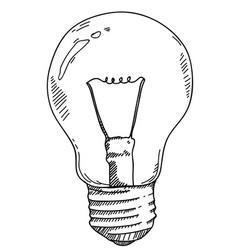 light bulb hand drawing vector image