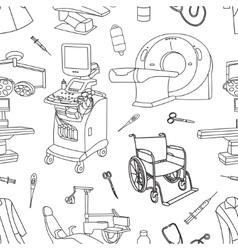 Medical center pattern vector image