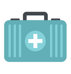 medicine flat suitcase isolated on white vector image
