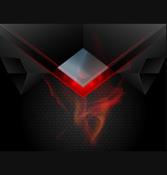 Red lighting metal scene vector