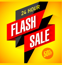 24 hour flash sale banner vector image vector image