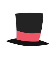 magic conjurer cylinder hat vector image