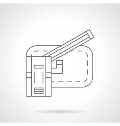 Modern security barrier flat line icon vector image