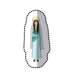sticker figure human of saint virgin maria vector image