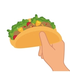 taco mexican food menu icon vector image