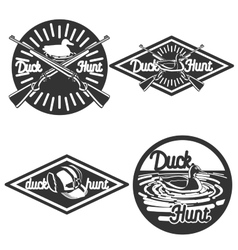 Vintage hunting emblems vector