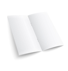 Blank paper brochure with clips vector image vector image