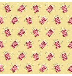 Christmas gift background vector image vector image