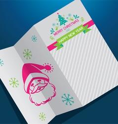 Christmas Santa Background vector image vector image