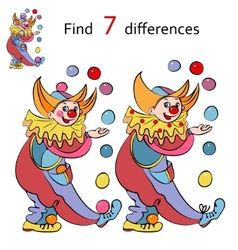 clowns find the differences vector image vector image