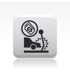 crash icon vector image