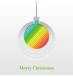 Creative Christmas Ball Greeting Card vector image vector image