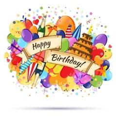 Festive Celebration Happy Birthday background vector image