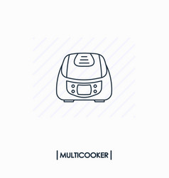 multicooker outline icon isolated vector image vector image
