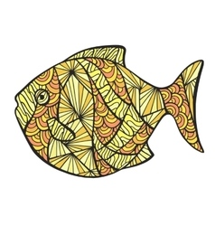Stylized colored fish vector image vector image