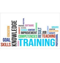 Word cloud training vector