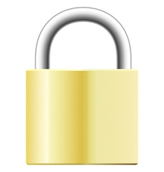yellow padlock vector image