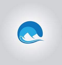 Abstract mount wave logo vector