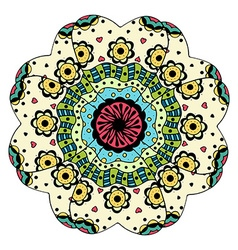 Beautiful Colored Mandala vector image vector image