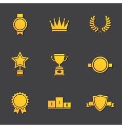 Modern flat design awards vector