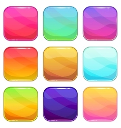 Rounded square app icons template set vector image vector image