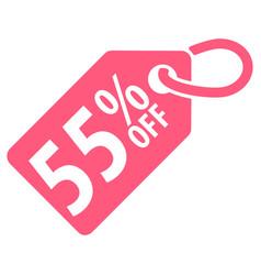 55 percent off tag vector image
