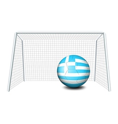 A ball with the flag of Greece vector image