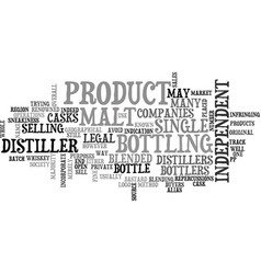 A bottle of their own text word cloud concept vector