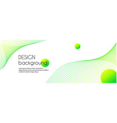 abstract long banner with green wavy lines vector image