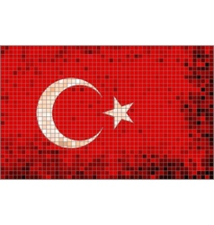 Abstract Mosaic flag of Turkey vector image