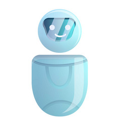 Artificial chatbot icon cartoon style vector