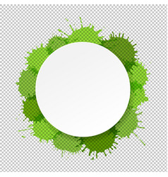banner with green blobs transparent background vector image