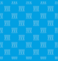 bass drum pattern seamless blue vector image