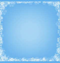 blue poster with winter border vector image