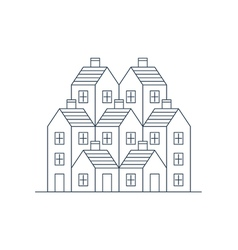Building development mortgage and realty concept vector image