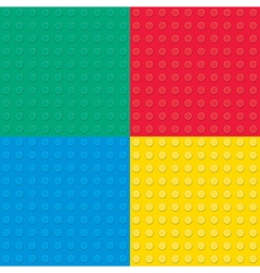 Building toy bricks seamless pettern vector image