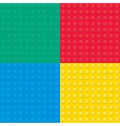 Building toy bricks seamless pettern vector