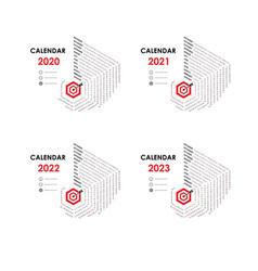 calendar 2020 20212022 and 2023 calendar vector image