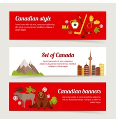 Canada banner set vector